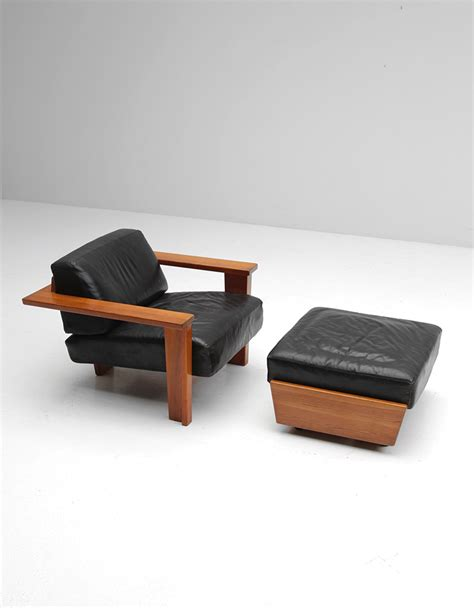 retro chair and ottoman vintage handcrafted lounge chair and ottoman for sale at