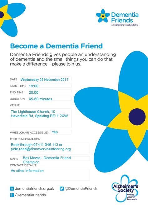 How To Find Out When Became Friends On Join Us To Find Out How To Become A Dementia Friend In Spalding Lincolnshire