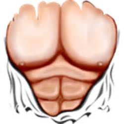 Ripped muscles six pack chest t shirt roblox