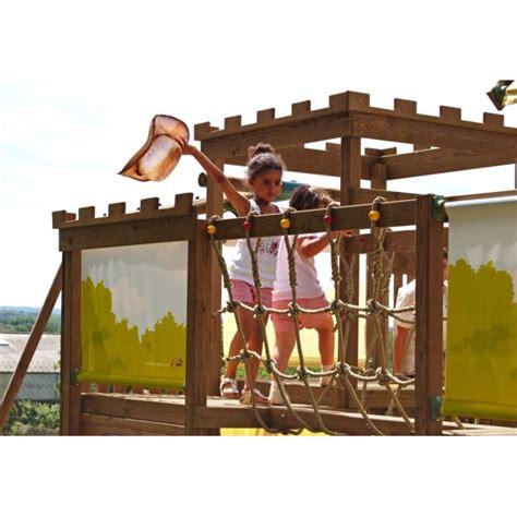 aire de jeux balancoire toboggan aire de jeux portique bois chambord balan 231 oire toboggan