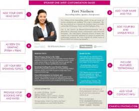 speaker one sheet template instant download ms word