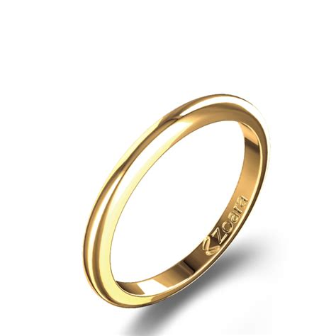 traditional wedding band in 14k yellow gold
