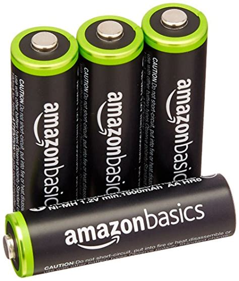 Amazonbasics Pile Rechargeable Aa by Amazonbasics Aa Rechargeable Batteries 4 Pack Pre