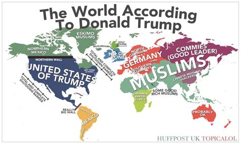 map world according to map of the world according to donald