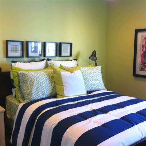 navy blue and lime green bedroom pin by christina ghoreishi on home decor pinterest
