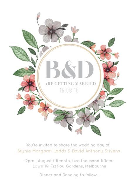 Floral Paper Wedding Invitations by Floral Wedding Invitations Wedding Invites Cards