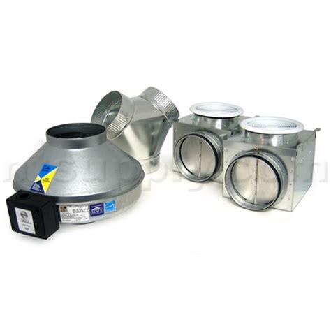 bathroom exhaust fan draw buy fantech pb370 2 premium bath fan kit with dual grilles