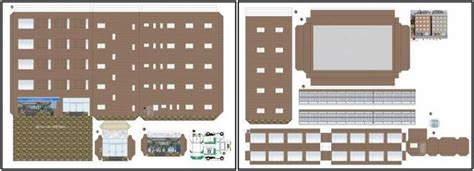 paper craft buildings papermau japanese office building paper model by