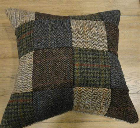 Tweed Patchwork - harris tweed patchwork scatter cushions from tannahill