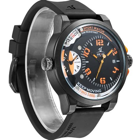 Weide Universe Quartz Silicone 30m Water Resistan Murah weide universe series dual time zone 30m water resistance uv1501 orange jakartanotebook
