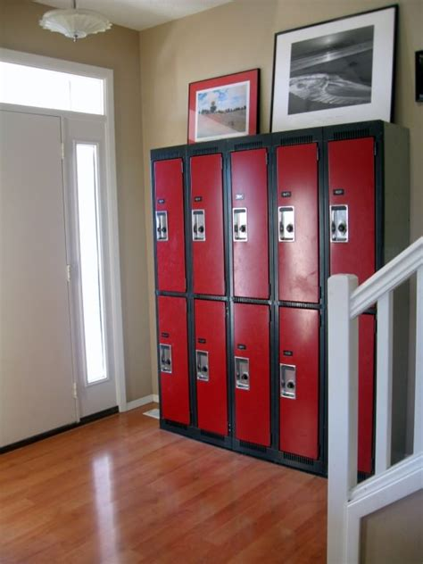 hallway lockers for home the five kids guide to home organization beth woolsey