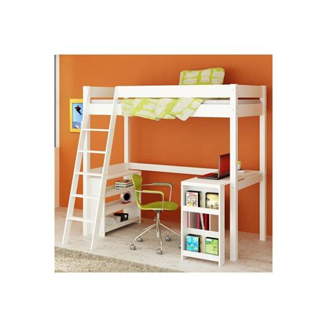 High Sleeper Frame by High Sleeper Bed Wooden Frame In White With Desk New