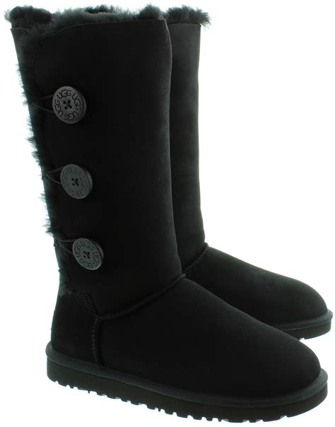 ugg boots black ugg bailey triplet sheepskin boots in black in black