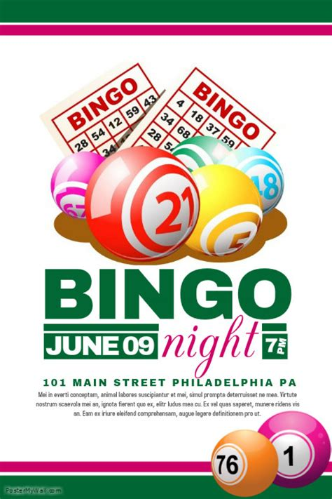 Bingo Flyer Template Free bingo flyer template postermywall