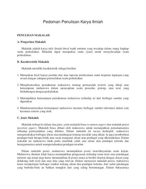 kb 1 format penulisan karya tulis ilmiah pedoman penulisan karya ilmiah