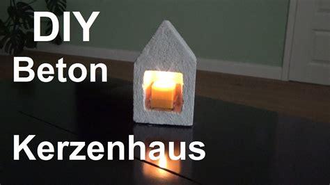 Kerzenhalter Shabby Chic by Diy Kerzenhaus Aus Beton Basteln Selber Machen