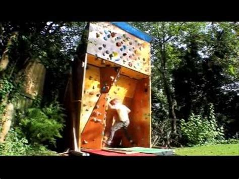 homemade outdoor bouldering wall youtube