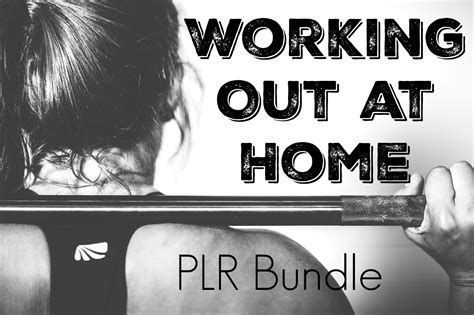working out at home plr bundle piggy makes bank