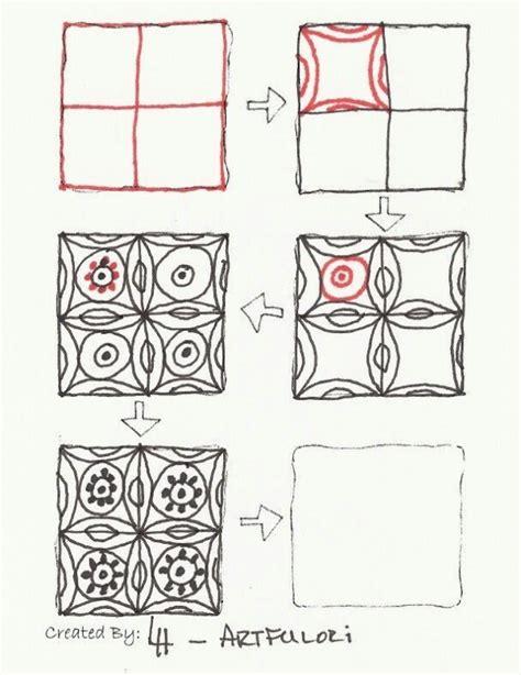 doodle pattern step by step zentangle patterns step by step zentangles step by step