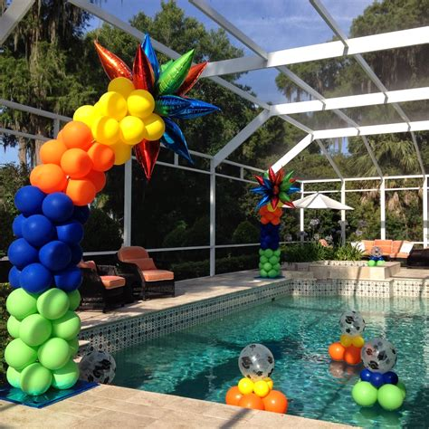 pool party decorations pool balloon decor tips balloon coach
