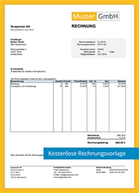 Design Vorlagen Rechnungen Kostenlose Rechnungsvorlagen Scopevisio Ag