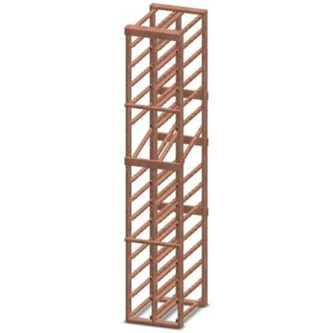 Wine Rack Home Depot by Vinotemp Magnum 2 Column 36 Bottle Wine Rack Kit With