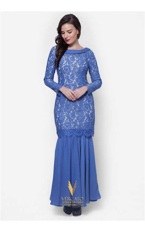 design baju kurung moden baju kurung moden lace vercato mila in blue