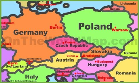 map of central europe map of central europe pictures to pin on pinsdaddy