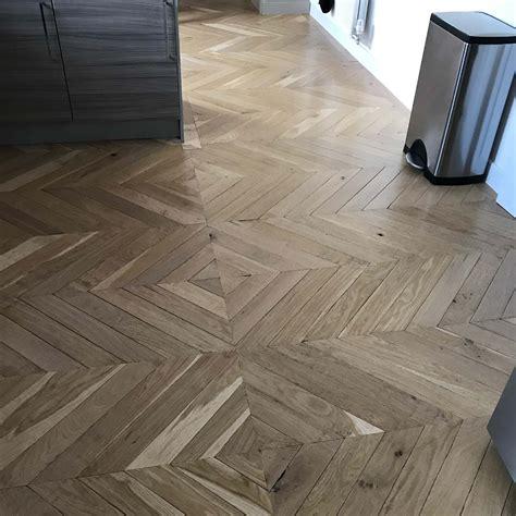 parquet solid oak wood flooring  natural finish herringbone  fishbone design ebay