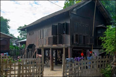 photo of home panoramio photo of traditional myanmar rural house