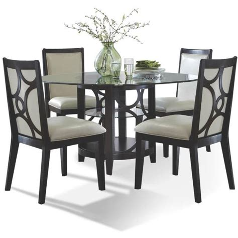 cappuccino dining room furniture collection planet espresso 5 piece dining set