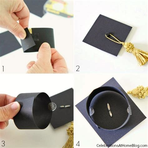 How To Make Cap With Paper - diy graduation cap bottle toppers celebrations cap