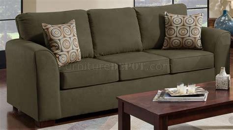 olive suede microfiber sofa loveseat set w optional items