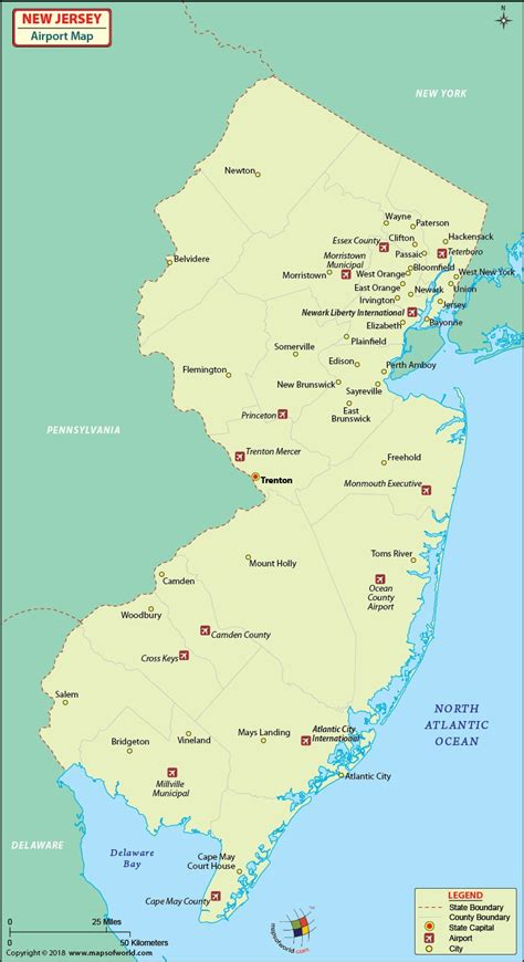 map usa airports new jersey airports map airports in new jersey