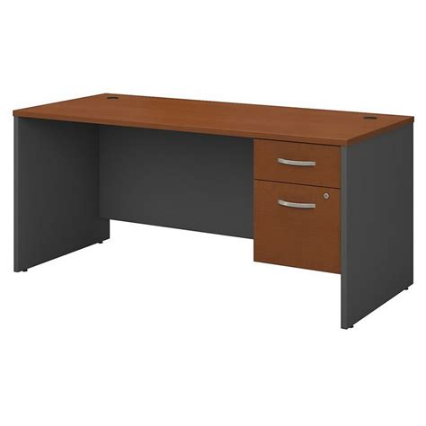 bush furniture series c 66 in office desk bush business furniture series c 66 quot desk in auburn maple