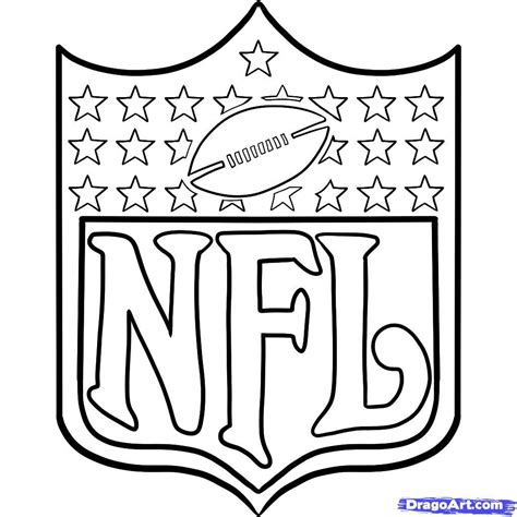 nfl logos coloring pages book printable pictures