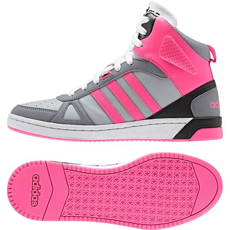 details about adidas neo hoops team mid ankle sporty shoes black grey pink f98855 in 2019