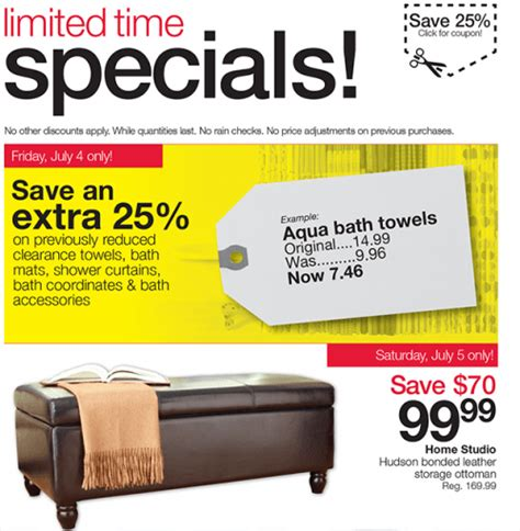Ottoman Home Outfitters Home Outfitters Canada Deals Coupons Save An 25 Select Clearance Merchandise Save