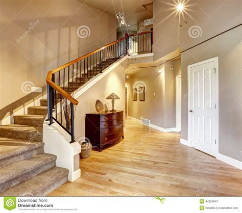Luxe Or Less The hallway with staircase in luxury house stock image image