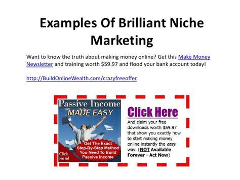 exle of niche niche marketing tutorial