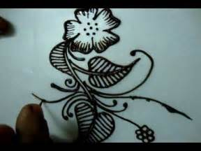 Simple floral henna design tutorial 2 how to draw for beginners