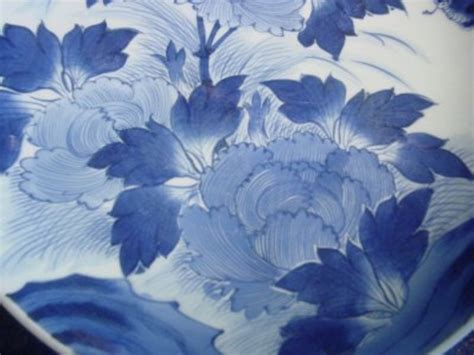 Dziner Ori Blue List White Blue 19th century arita blue and white charger for sale