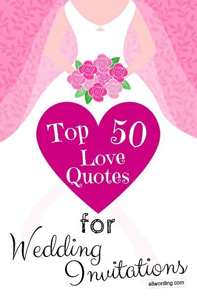 Top 50 Love Quotes For Wedding Invitations   Saying I Do