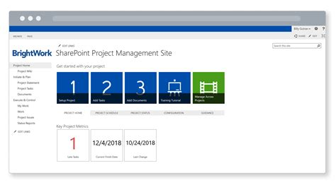 free project management templates for microsoft sharepoint