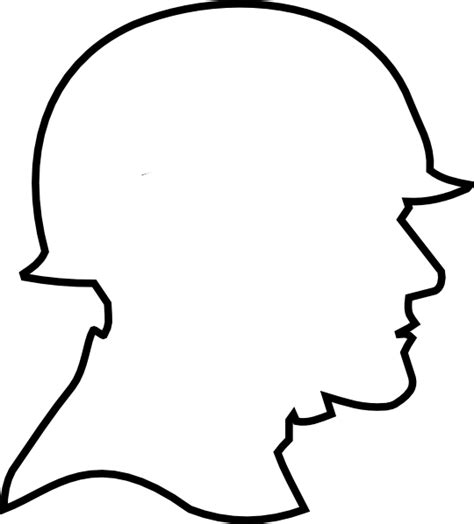 Soldier Drawing Outline by Soldier Outline Clip At Clker Vector Clip Royalty Free Domain