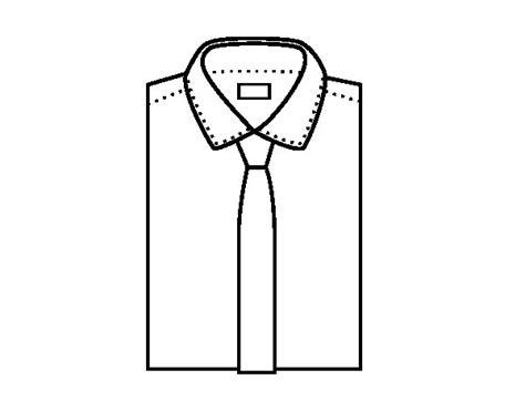 camisa y corbata para colorear dibujo de camisa con corbata para colorear dibujos net
