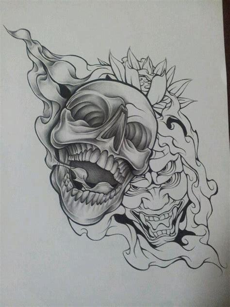 new school skull tattoo design new style skull design