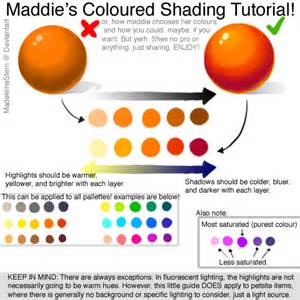 color shading coloured shading tutorial how to a palette by