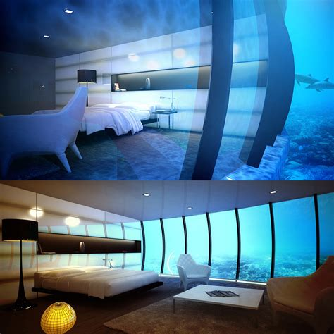 bedroom underwater the manta resort opens the first submerged hotel room in africa