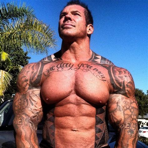chest tattoo bodybuilding strength fighter rich piana workout